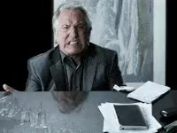 Watch and share Flip Table, Alan Rickman, Nope GIFs on Gfycat