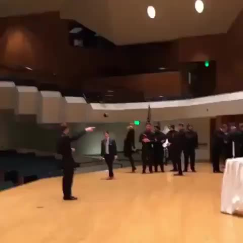 dance, funny, fail, fall, Dancing right off the stage GIFs