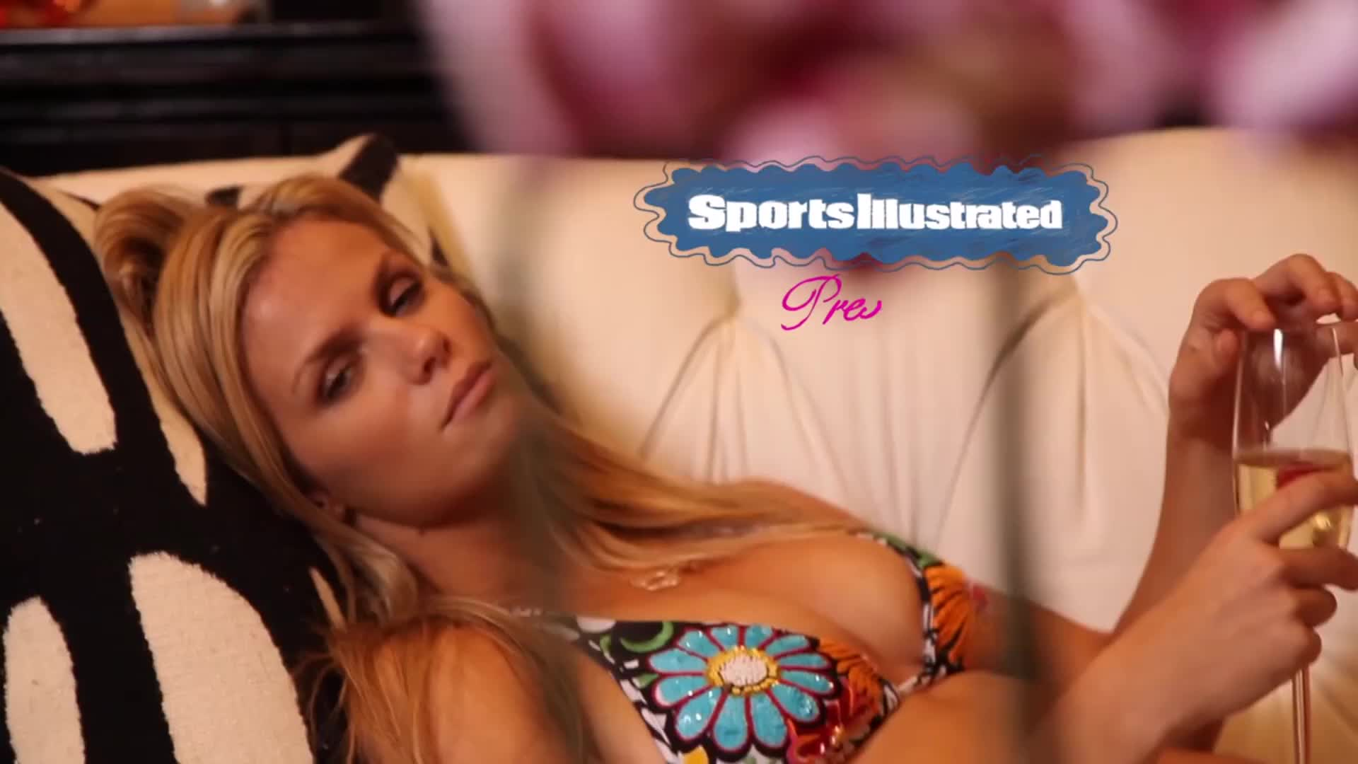 2011model, brooklyn decker, brooklyn decker si swimsuit, brooklyn decker thirsty, brooklyn decker2011, brooklyn deckerbikini, brooklyn deckerphotoshoot, brooklyndecker, sunsetbikini, sunsetphotoshoot, sunsetvideo, Brooklyn Decker Takes A Sip On Heaven Against The Sunset | Intimates | Sports Illustrated Swimsuit GIFs