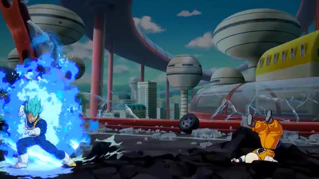 Watch Dragon Ball FighterZ - PS4/XB1/PC - SSGSS power: ON! GIF on Gfycat. Discover more bandai namco, bandai namco entertainment, namco bandai GIFs on Gfycat