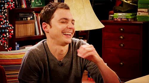 bang, big, cooper, funny, hilarious, jim, joke, laugh, lol, loud, out, parsons, sheldon, Big Bang - Funny GIFs