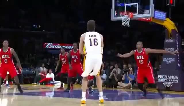 Watch pau gasol slam GIF on Gfycat. Discover more Lakers GIFs on Gfycat
