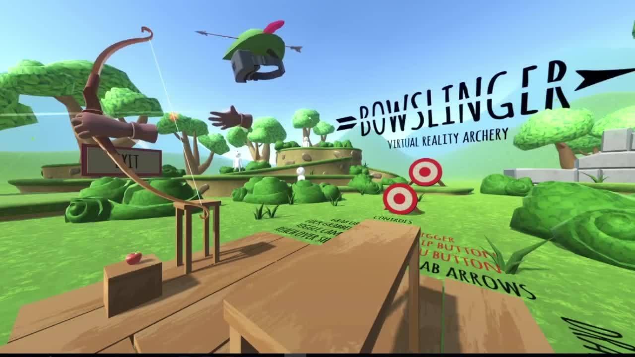Archery, VRphysics, gaming, Allt går fel när Fille testar Virtuell verklighet GIFs