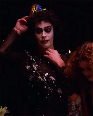 Watch and share Frank N Furter GIFs and 40th Birthday GIFs on Gfycat