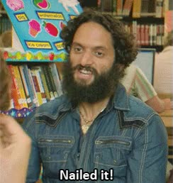 Watch this nailed it GIF by GIF Master Blaster (@xitenik) on Gfycat. Discover more Jason Mantzoukas, nailedit GIFs on Gfycat