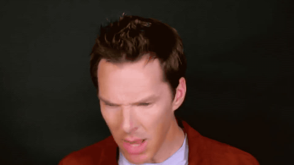 annoyed, bad, can't, disgust, disgusting, donald, ew, eww, face, funny, haha, impression, it, lol, mad, puke, smell, stand, terrible, trump, Benedict Cumberbatch - Ew GIFs
