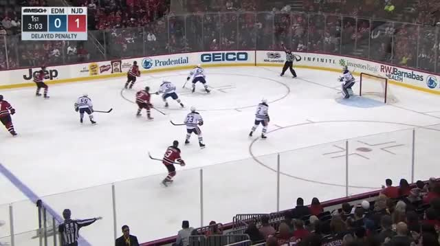 Watch and share Taylor Hall Hit By Gryba And Hendricks GIFs by cultofhockey on Gfycat