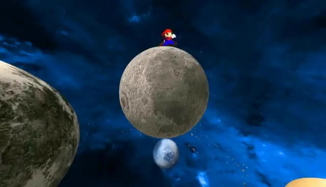 Watch and share Mario Runs Very Very Fast... But That's A Small Planet ^^ ! (SMG4 - Retarded64: Stupid Mario Galaxy) GIFs on Gfycat