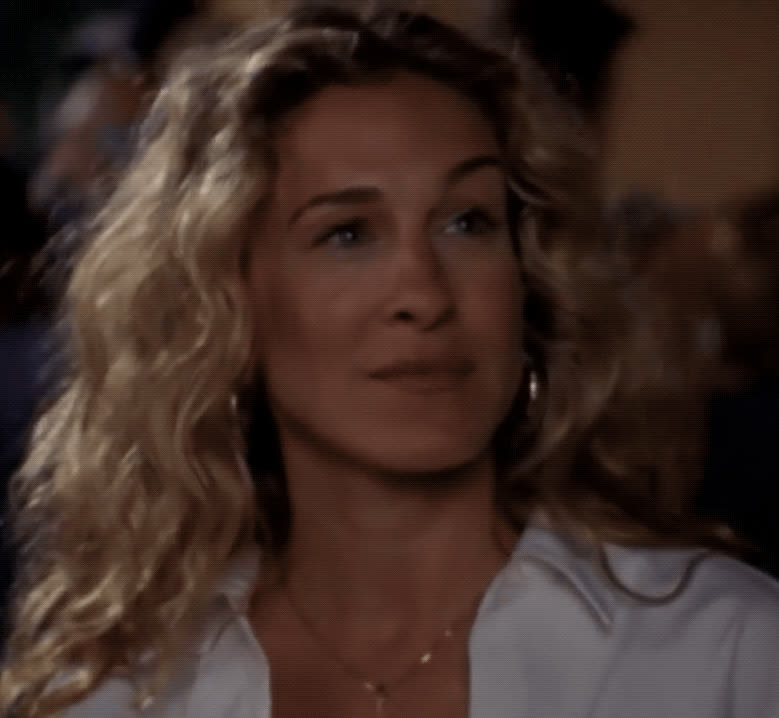 carrie bradshaw, flirt, sarah jessica parker, sex and the city, sjp, Carrie Bradshaw Flirt GIFs