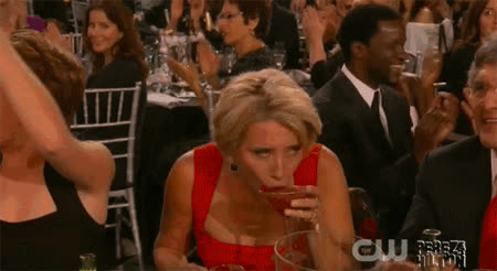 emma thompson drinking GIFs