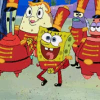 Watch and share Spongebob Dance Marching Band Eager Face Photo: SB Eager Face  GIFs on Gfycat