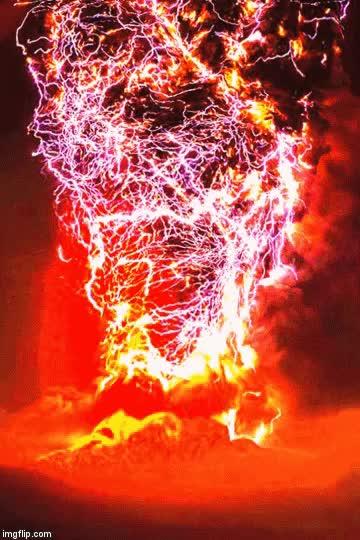 Watch and share Volcanic Lightning GIFs on Gfycat