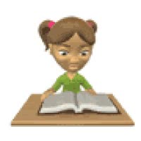Watch and share Reading Animation Photo: Reading Student_reading_book_in_class_sm_nw.gif GIFs on Gfycat