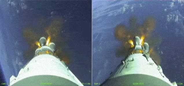 Watch and share Separation Of A Satellite's Boosters GIFs on Gfycat