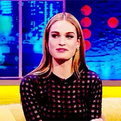 Watch this lily james GIF on Gfycat. Discover more alresortstarter, closed starter, here u go bb!, lily james, ryan GIFs on Gfycat