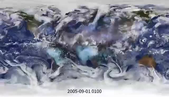 Simulated clouds and aerosols GIFs