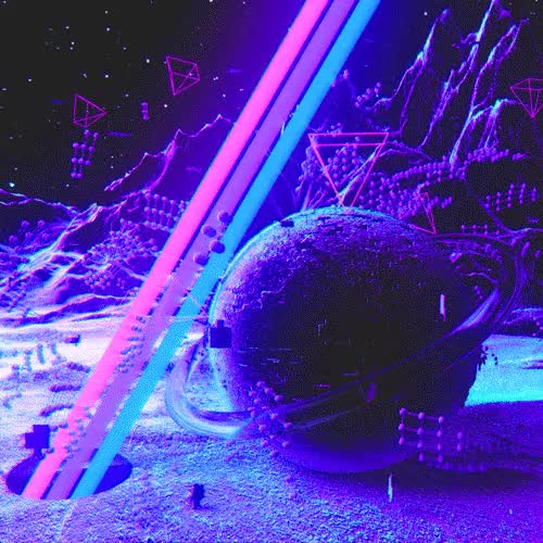 Watch and share Psychedelic GIFs and Landscape GIFs by Void Design on Gfycat