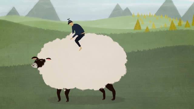 Watch and share Sheep GIFs by Dope-boy on Gfycat