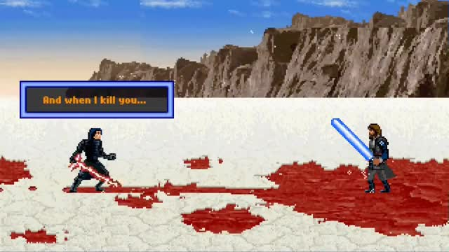 Luke Skywalker Vs Kylo Ren 16 Bit Gif Find Make Share Gfycat Gifs