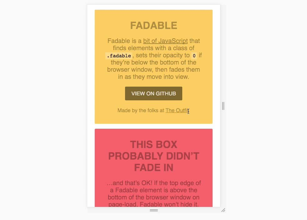 webdev, Fadable Demo GIFs
