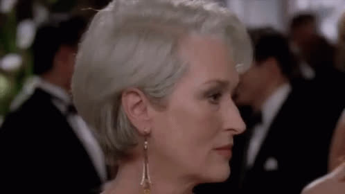 Miranda Priestly, annoyed, bored, dgaf, eye roll, idiots, meryl streep, the devil wears prada, whatever, Meryl Streep Eye Roll GIFs