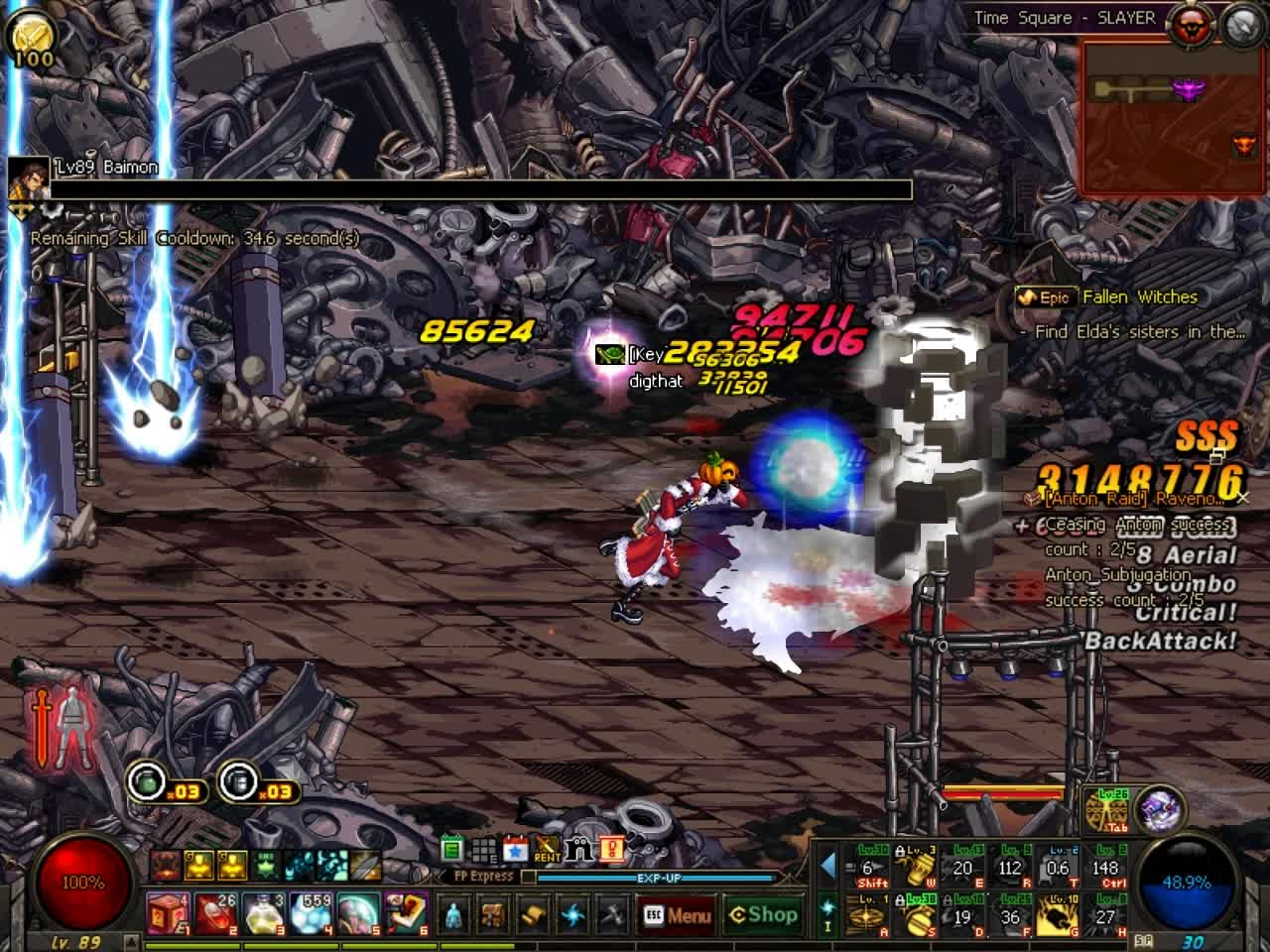 60fps, DFO, MMORPG, DFO Hell Mode Vol.93.5 GIFs