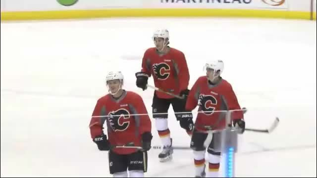 calgaryflames, hawwkey, I love Hudler's influence. (From this morning's practice) (reddit) GIFs