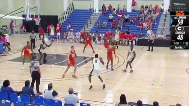 2018, 2018-19, 2019, ACC, Basketball, Bulldogs, Clemson, Georgia, SEC, Tigers, 2018-19 College Basketball: (#16) Clemson vs. Georgia (Full Game) GIFs