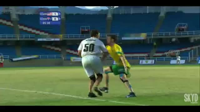 Watch World Games 2013 | USA vs AUS - Finals GIF by @push_pass on Gfycat. Discover more skyd magazine, ultimate, world games (recurring event) GIFs on Gfycat