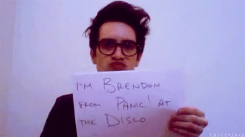 Watch and share Panic At The Disco GIFs and Brendon Urie GIFs on Gfycat