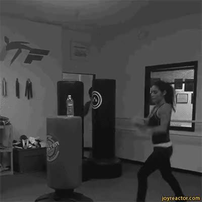 Watch female kickboxing bottle GIF on Gfycat. Discover more related GIFs on Gfycat