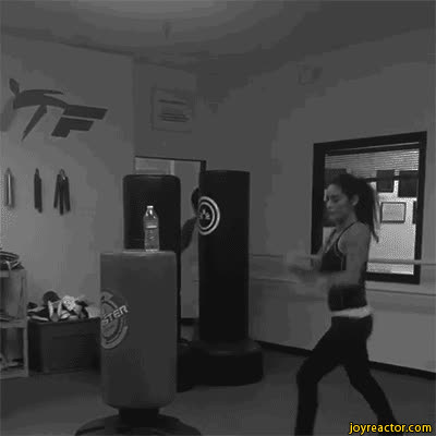 female kickboxing bottle GIFs