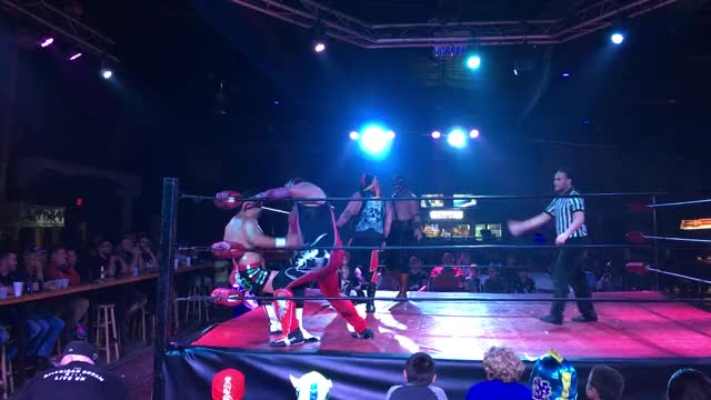 Watch Wrestling GIF by Blaze Inferno (@metaknightxprophets) on Gfycat. Discover more Chimaera, Choking, Cool, Punching, Ricardo Rodriguez, cmll, mexico GIFs on Gfycat