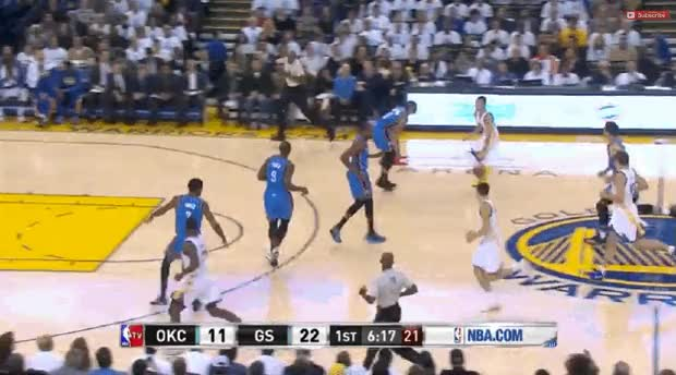 Watch and share Stephen Curry Nutmegs Steven Adams GIFs on Gfycat