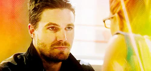 Watch fall in love.  GIF on Gfycat. Discover more arrow, babies, emily bett rickards, emilybettrickards, felicity smoak, felicitysmoak, gifs, olicity, oliver queen, oliverqueen, stephen amell, stephenamell GIFs on Gfycat