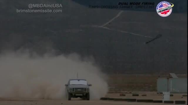 Watch MBDA Brimstone air to ground test - tandem shaped charged warhead detonation vs truck (reddit) GIF on Gfycat. Discover more shockwaveporn GIFs on Gfycat
