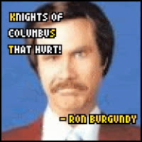 will ferrell, Anchorman - Knights of Columbus GIFs