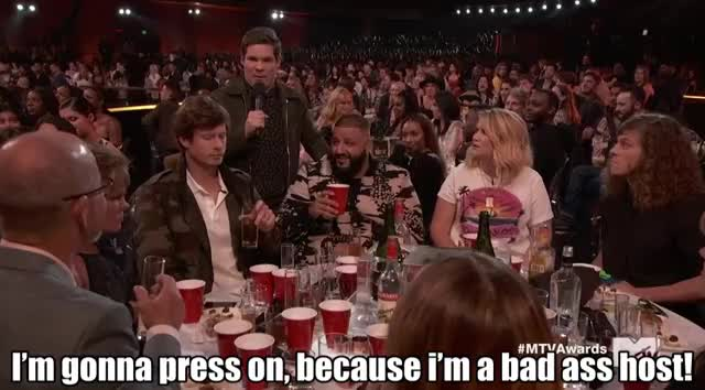 Watch this mtv awards 2017 GIF by GIF Reactions (@visualecho) on Gfycat. Discover more Adam Devine, MTV Awards, MTVAwards, MTVAwards2017, bad ass, host GIFs on Gfycat