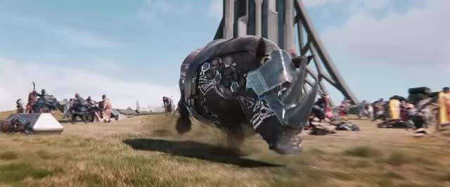 Watch and share Black Panther GIFs and Rhinoceros GIFs by Dibs on Gfycat
