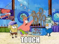 Watch and share Touch, Patrick, Sponge Bob GIFs on Gfycat