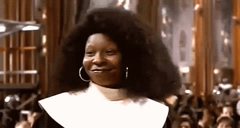 approval, mhmm, nun, ok, sister act, whoopi goldberg, yas, yes, Whoopi Sister Act GIFs