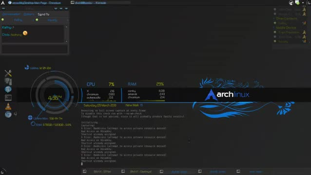 Watch and share Arch Linux KDE4 + Compiz + Conky GIFs on Gfycat