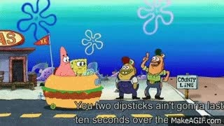 Watch and share FUNNY PART OF SPONGEBOB MOVIE :D !!!!!!!! (County Line) GIFs on Gfycat