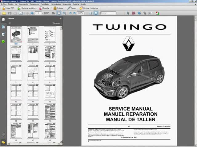 renault twingo manual de taller service manual manuel reparation rh gfycat com renault twingo workshop manual pdf renault twingo service manual