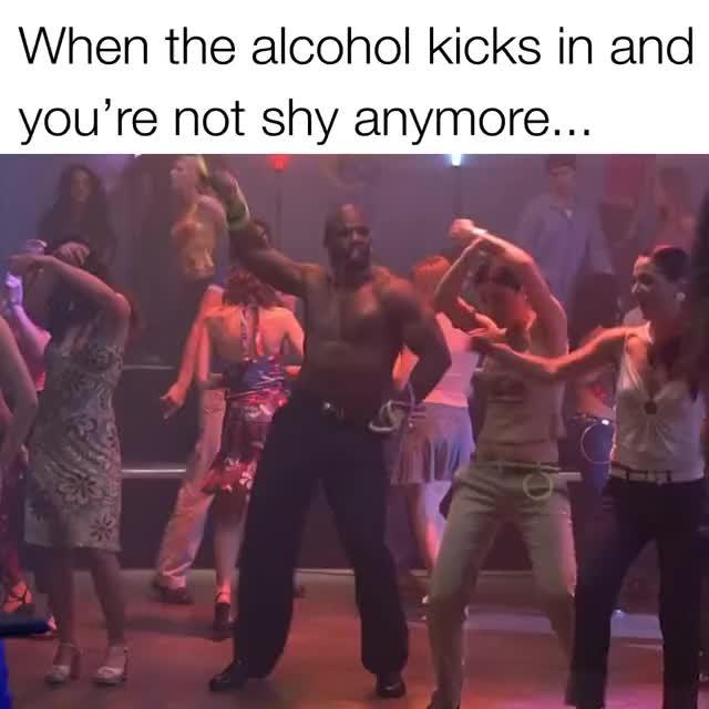 When alcohol kicks in