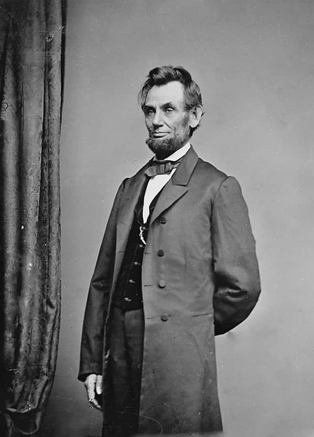 Watch and share Abraham Lincoln President NARA Overlay GIFs on Gfycat
