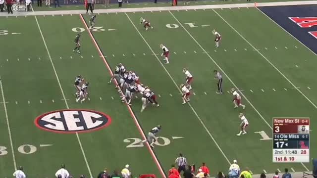 Watch and share Chad Kelly Pick Vs. New Mexico St. GIFs by jhgray1989 on Gfycat