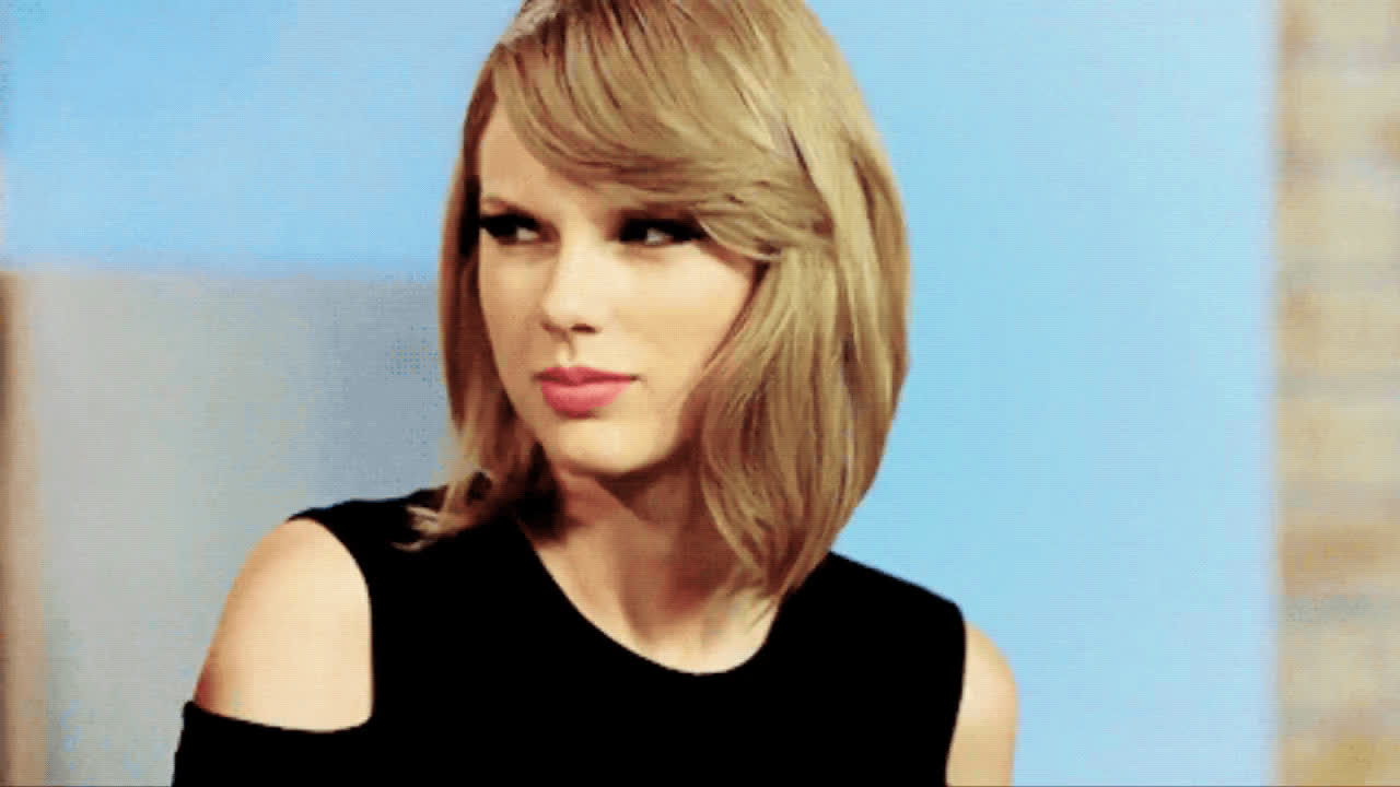 Taylor Swift, annoyed, catty, eye roll, mean girl, Taylor Swift Catty Eye Roll GIFs
