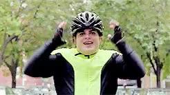 Watch and share Josh Gad GIFs and Biking GIFs on Gfycat