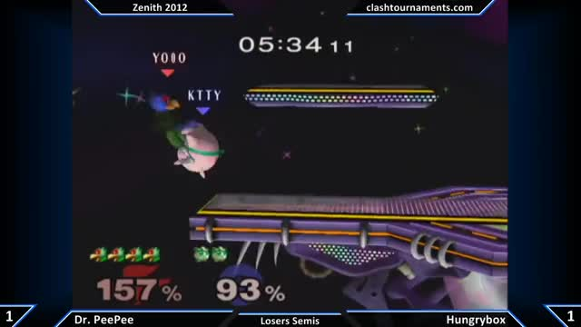 Zenith 2012 - Hungrybox vs Dr. PeePee - Losers Semis
